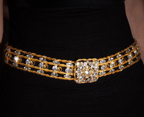vinatge belt-D&E Juliana Crystal and Gold