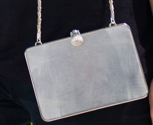 vintage handbag-Suarez Silver Metal Evening Bag